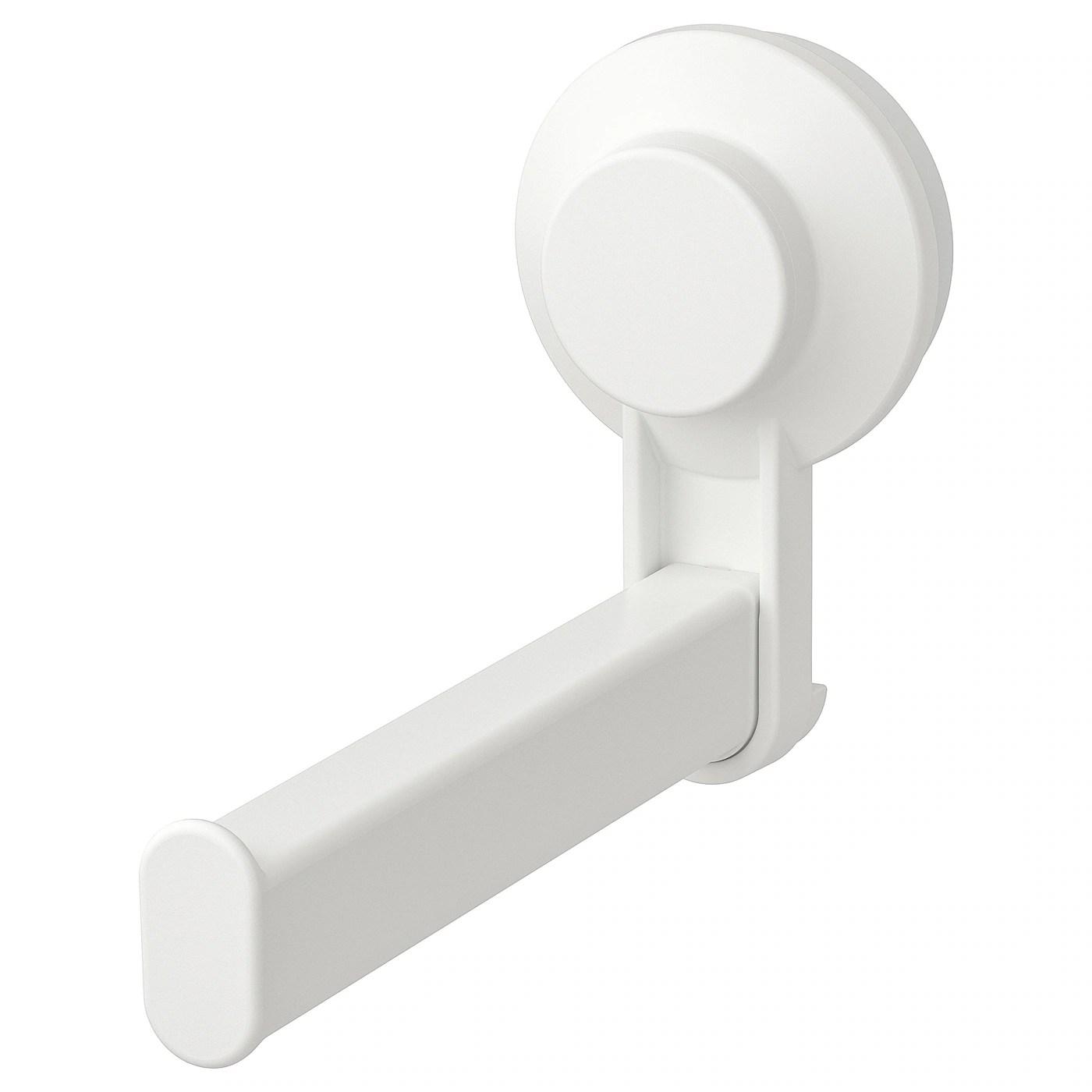 Tisken Support Porte Rouleau Wc A Ventouse Blanc Ikea