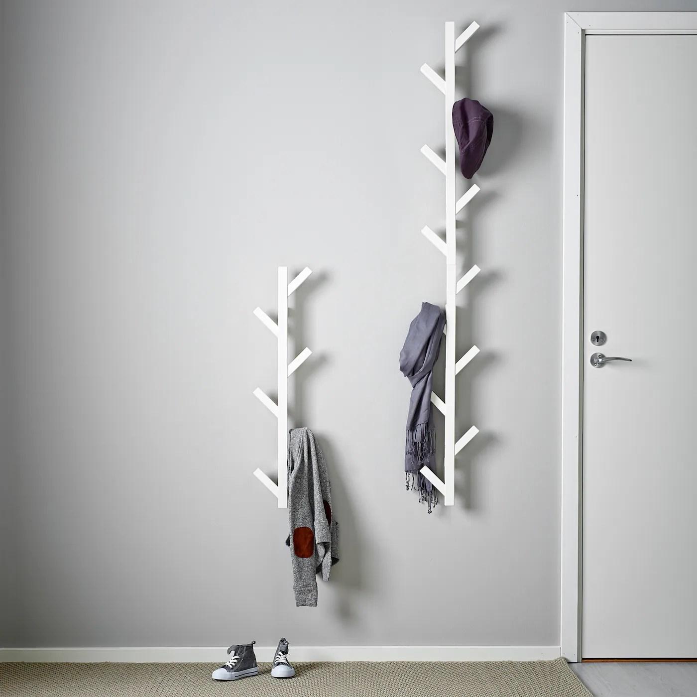 Tjusig Patere Blanc 78 Cm Materiau Durable Ikea
