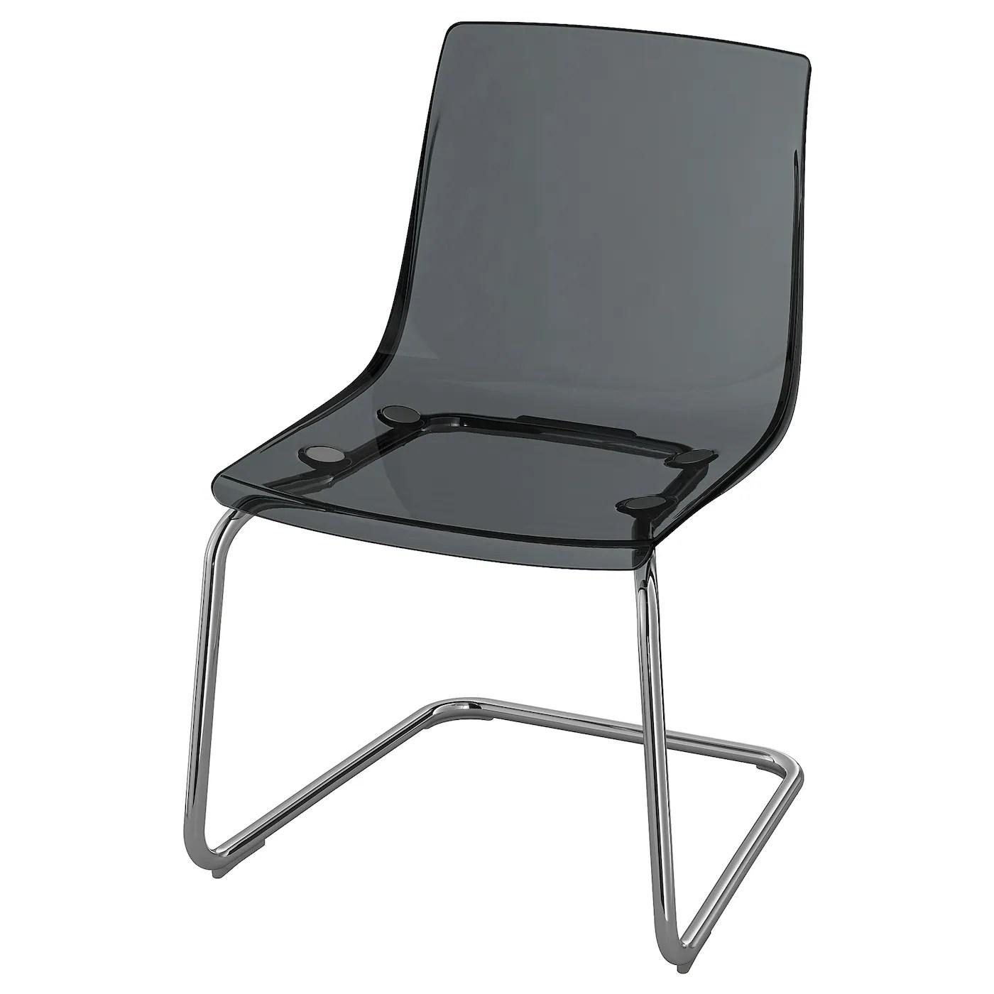 tobias chaise gris chrome