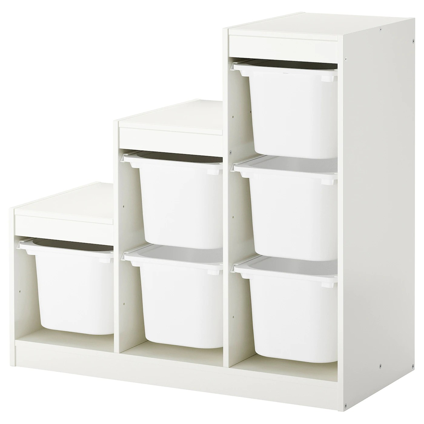Trofast Combi Rangement Boites Blanc 99x44x94 Cm Ikea