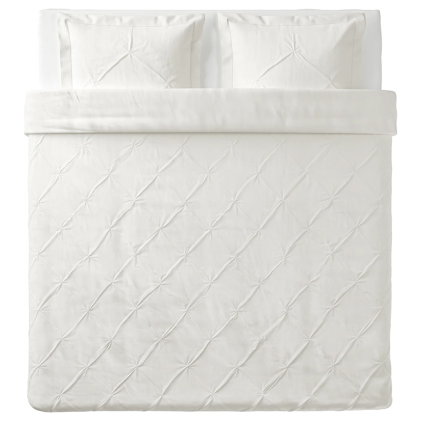 Trubbtag Housse Couette 2 Taies Blanc 240x220 65x65 Cm Ikea