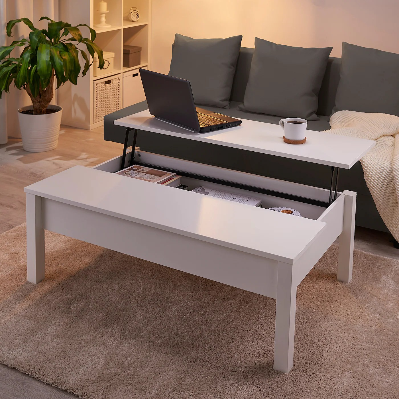 trulstorp table basse blanc 115x70 cm