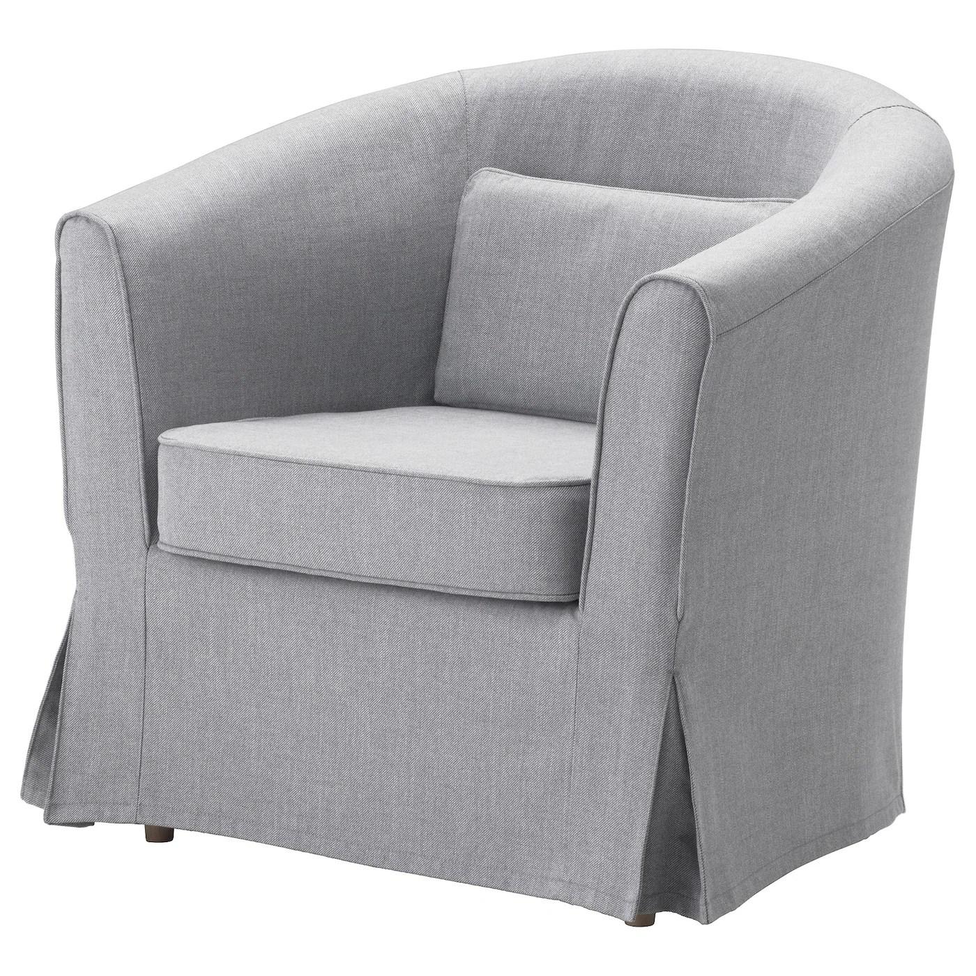 tullsta housse de fauteuil nordvalla gris moyen