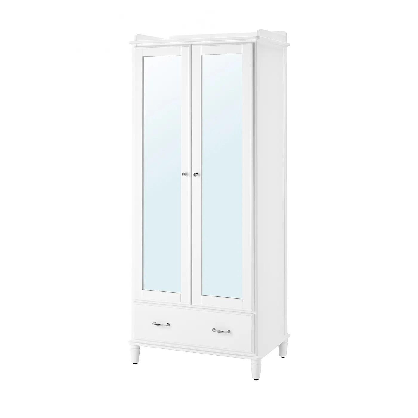 Tyssedal Armoire Blanc Miroir 88x58x208 Cm Ikea
