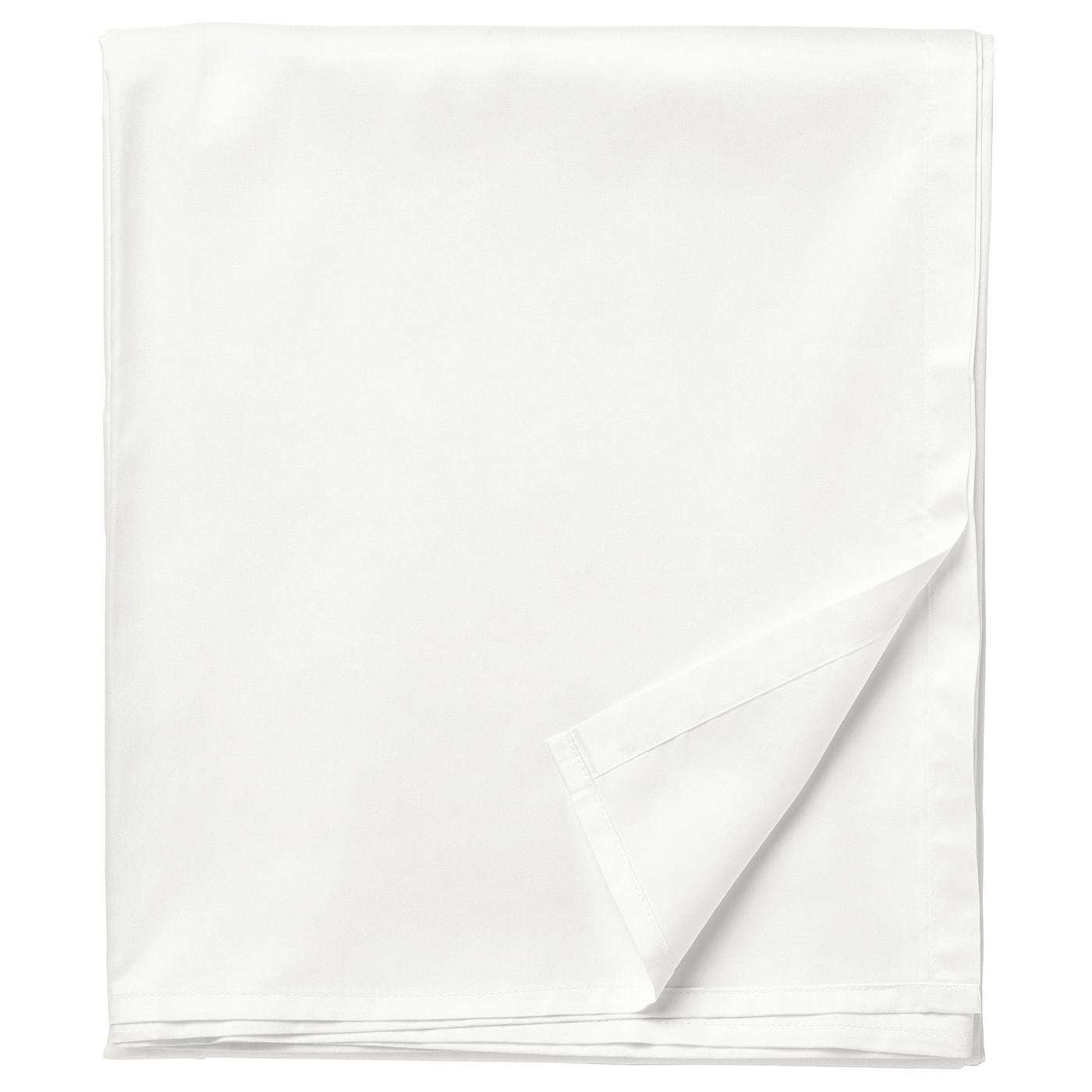 Ullvide Drap Blanc 240x260 Cm Materiau Durable Ikea