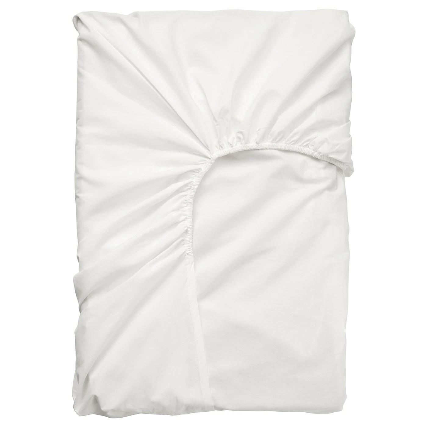Ullvide Drap Housse Pour Surmatelas Blanc 90x200 Cm Ikea