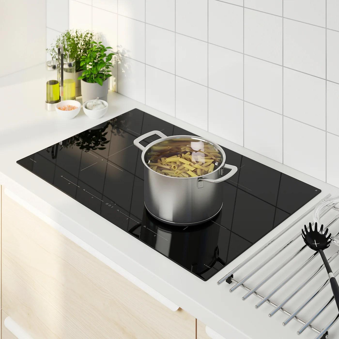 utnamnd table de cuisson induction ikea 500 noir 78 cm