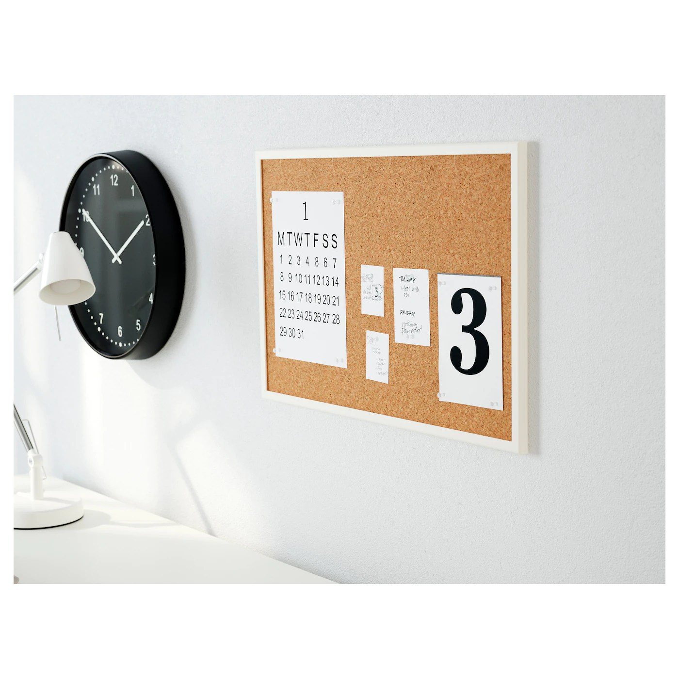 Vaggis Tableau Memo Avec Epingles Blanc Materiau Durable Ikea