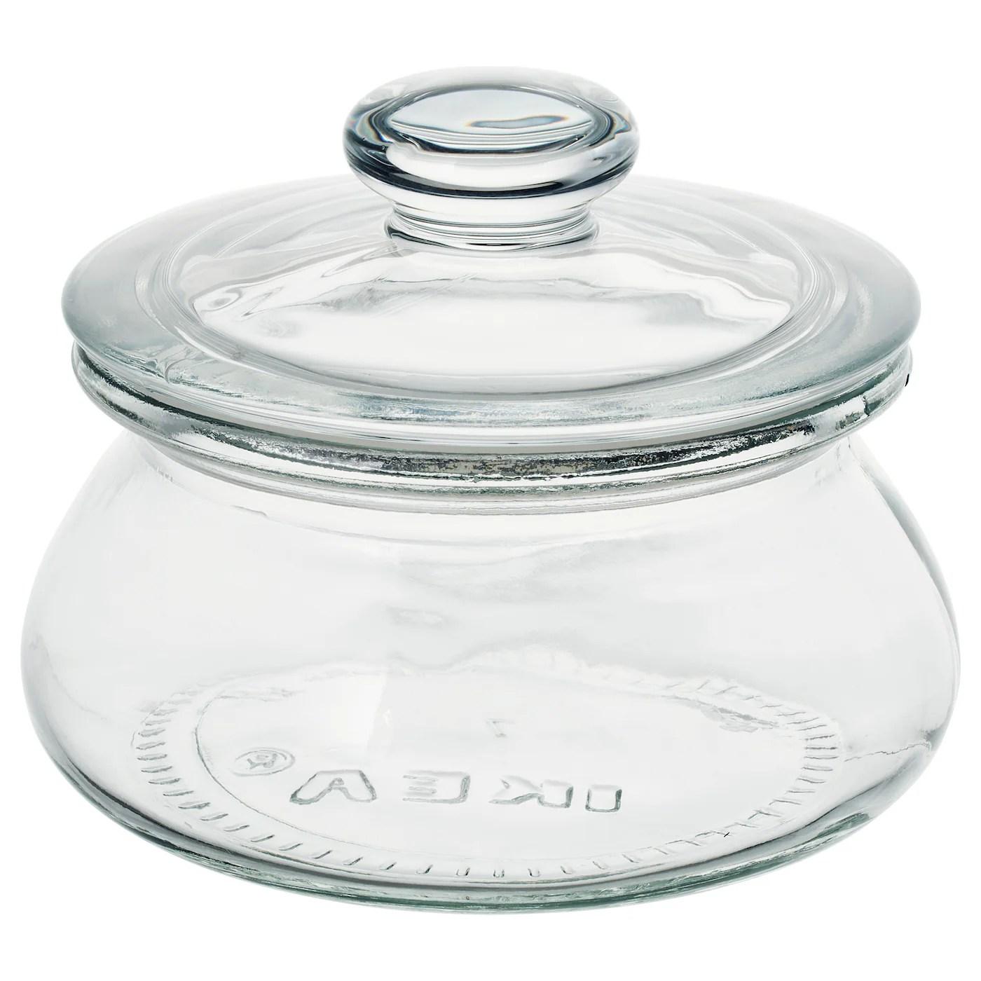 vardagen bocal avec couvercle verre transparent 0 3 l