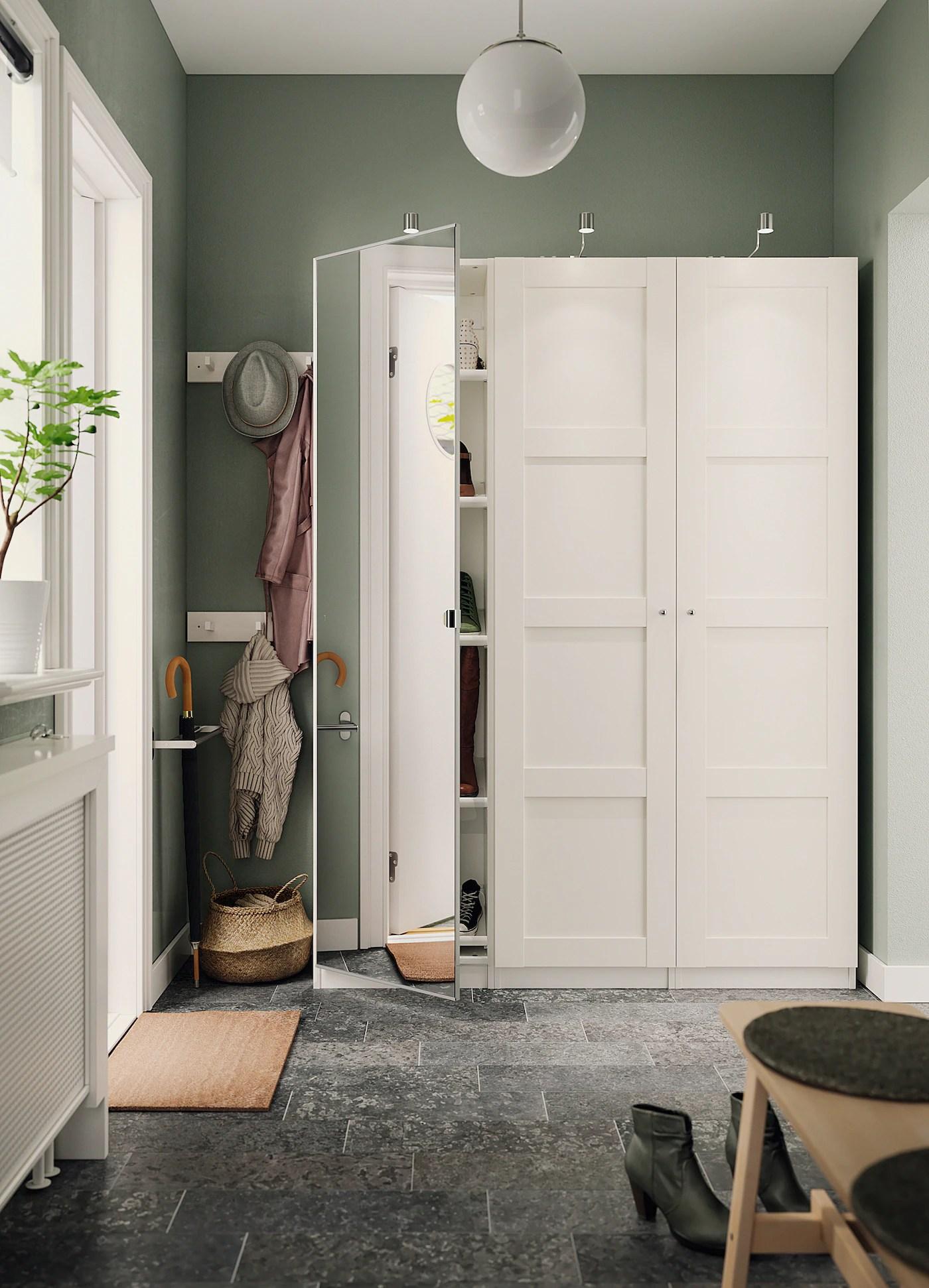 Vikedal Porte Avec Charnieres Miroir 50x195 Cm Ikea