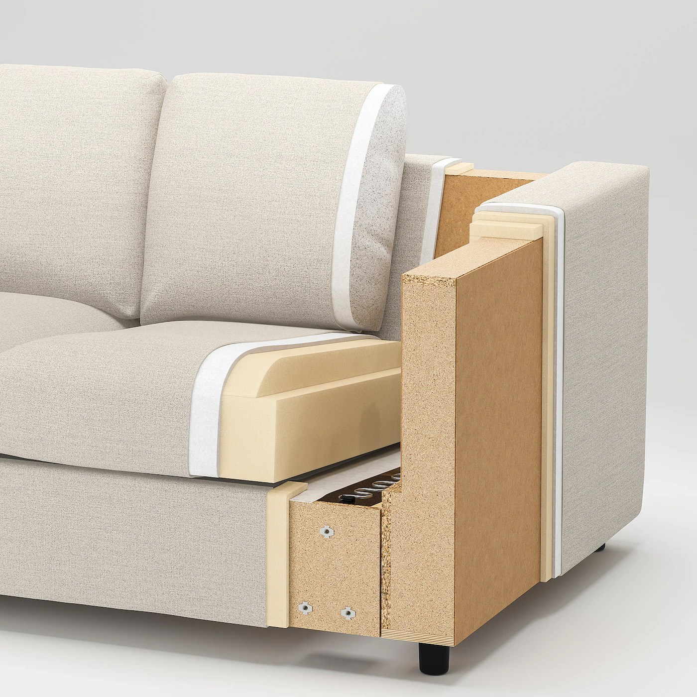 Vimle Convertible 2 Places Gunnared Gris Moyen Ikea