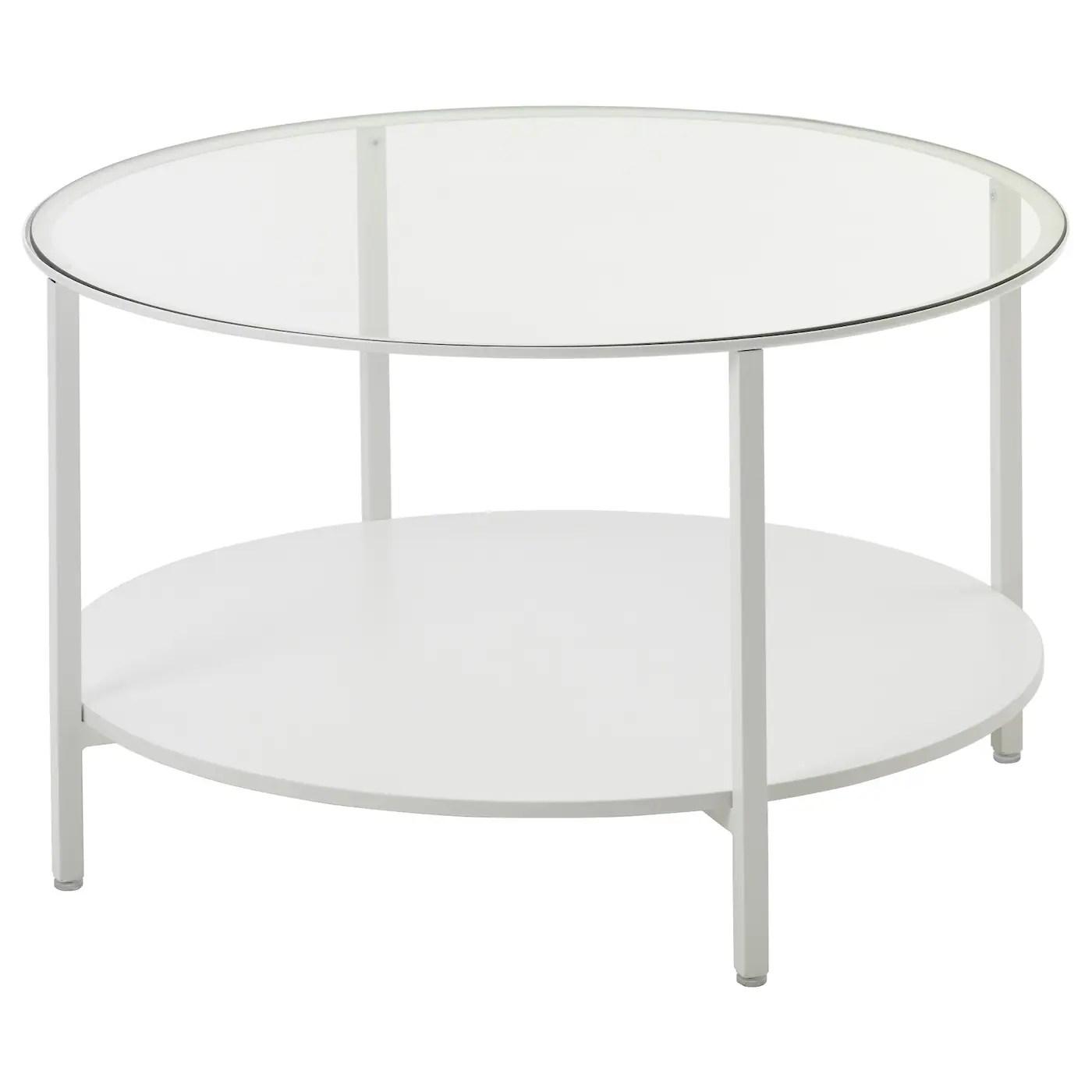 Vittsjo Table Basse Blanc Verre 75 Cm Ikea