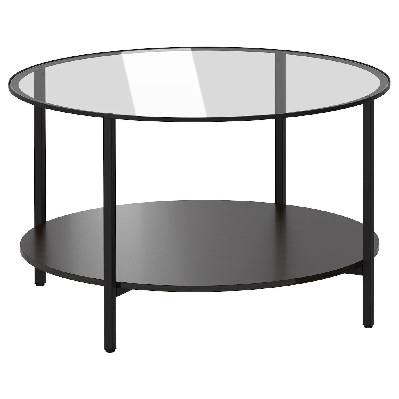Vittsjo Table Basse Brun Noir Verre 75 Cm Ikea