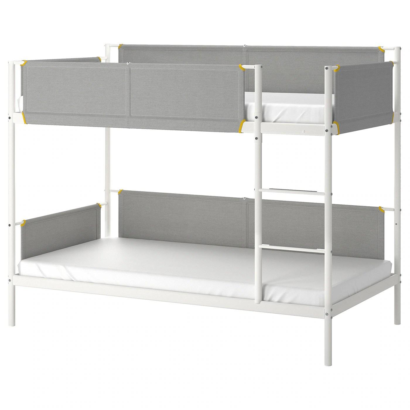Vitval Structure Lits Superposes Blanc Gris Clair 90x200 Cm Ikea