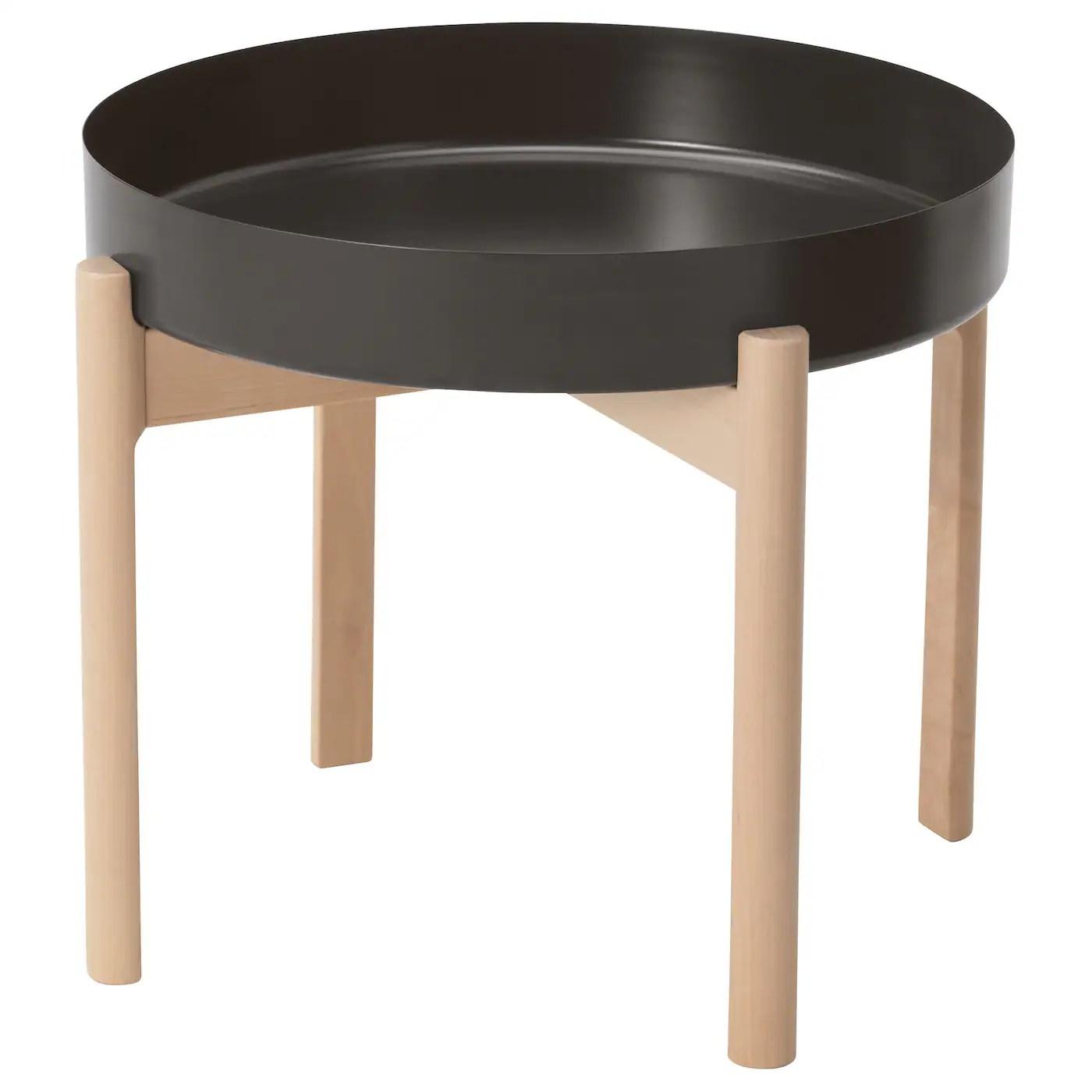 Ypperlig Table Basse Gris Fonce Bouleau Materiau Durable Ikea