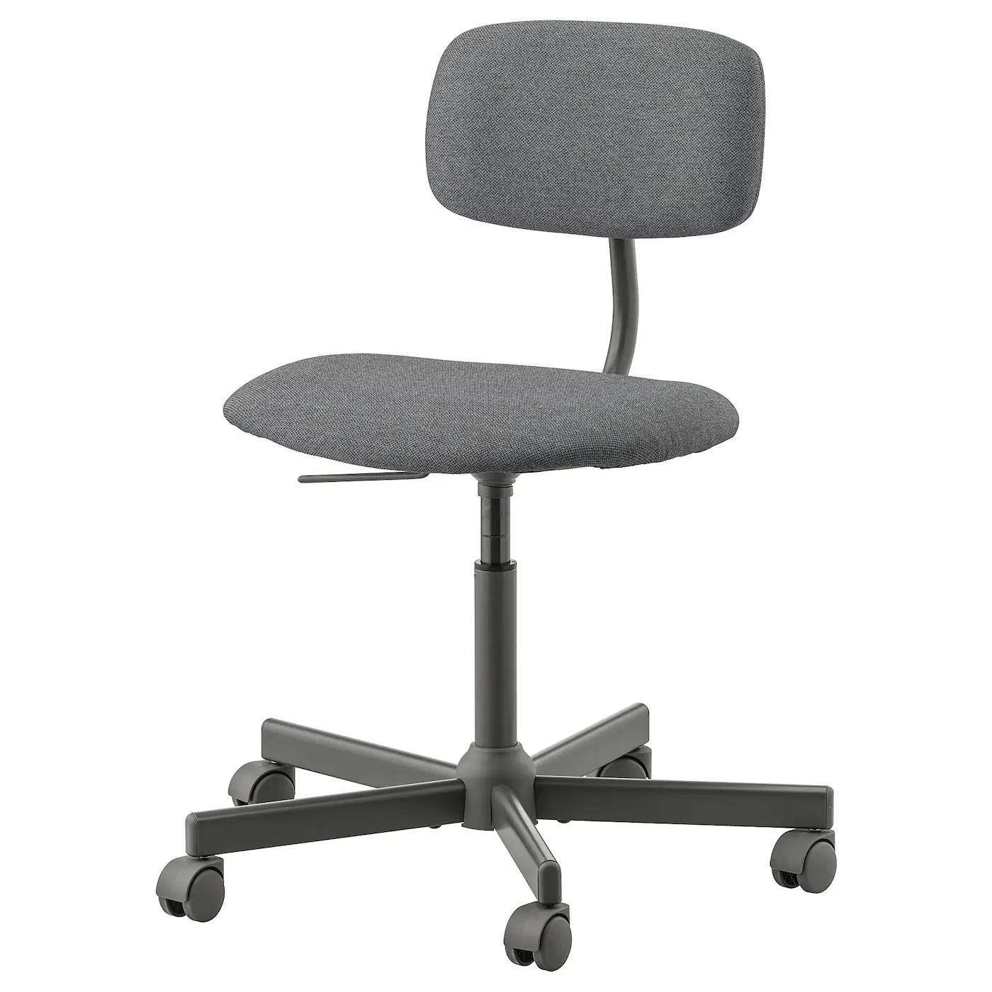 Bleckberget Idekulla Dark Grey Swivel Chair Ikea