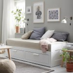 Brimnes White Day Bed With 2 Drawers 80x200 Cm Ikea