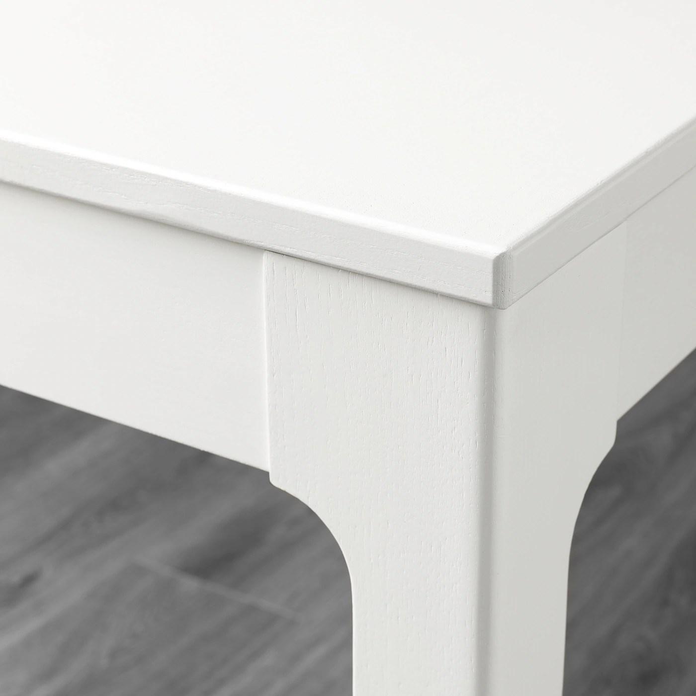 Ekedalen White Extendable Table Min Length 80 Cm Ikea