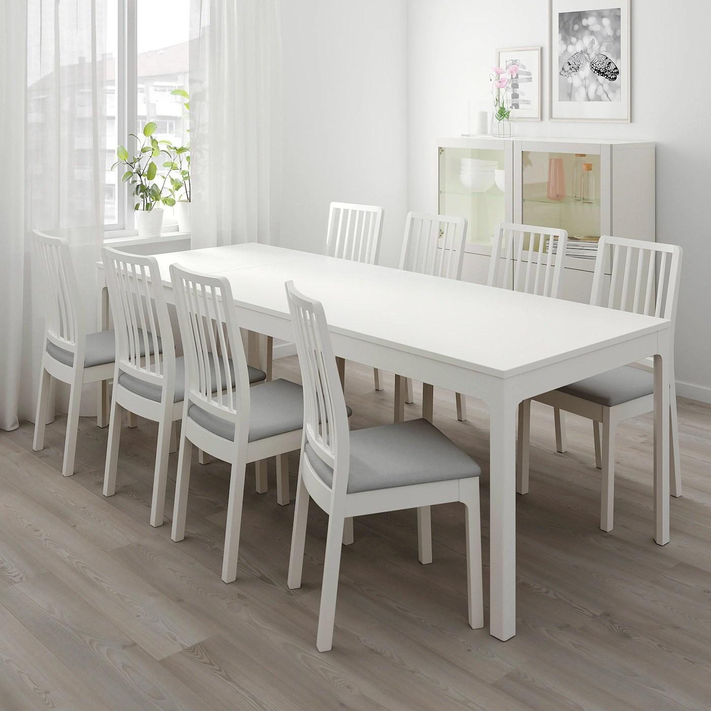 ekedalen extendable table white 180 240x90 cm