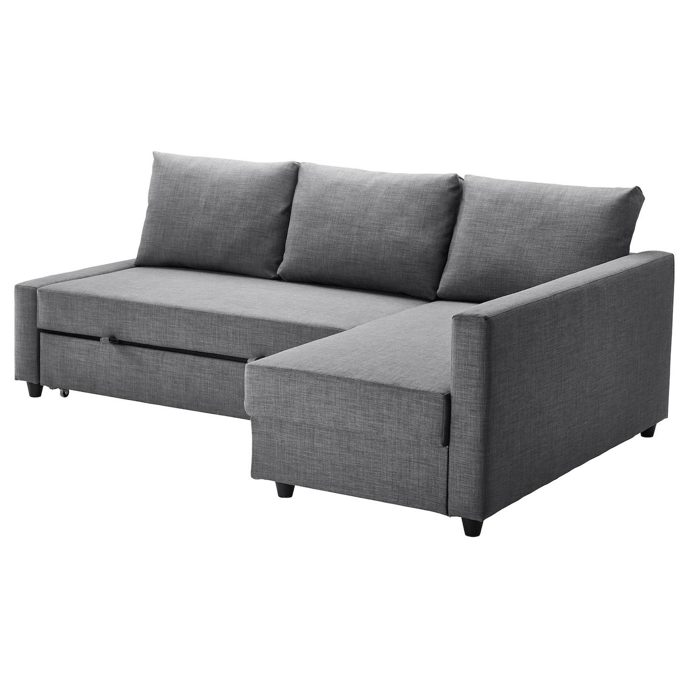 Friheten Skiftebo Dark Grey Corner Sofa Bed With Storage Ikea
