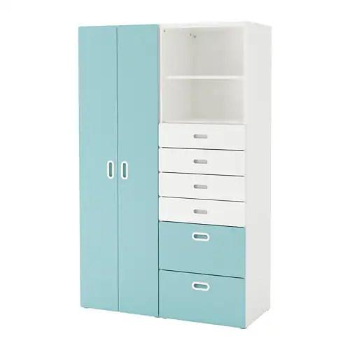 FRITIDSSTUVA Wardrobe Whitelight Blue 120 X 50 X 192 Cm
