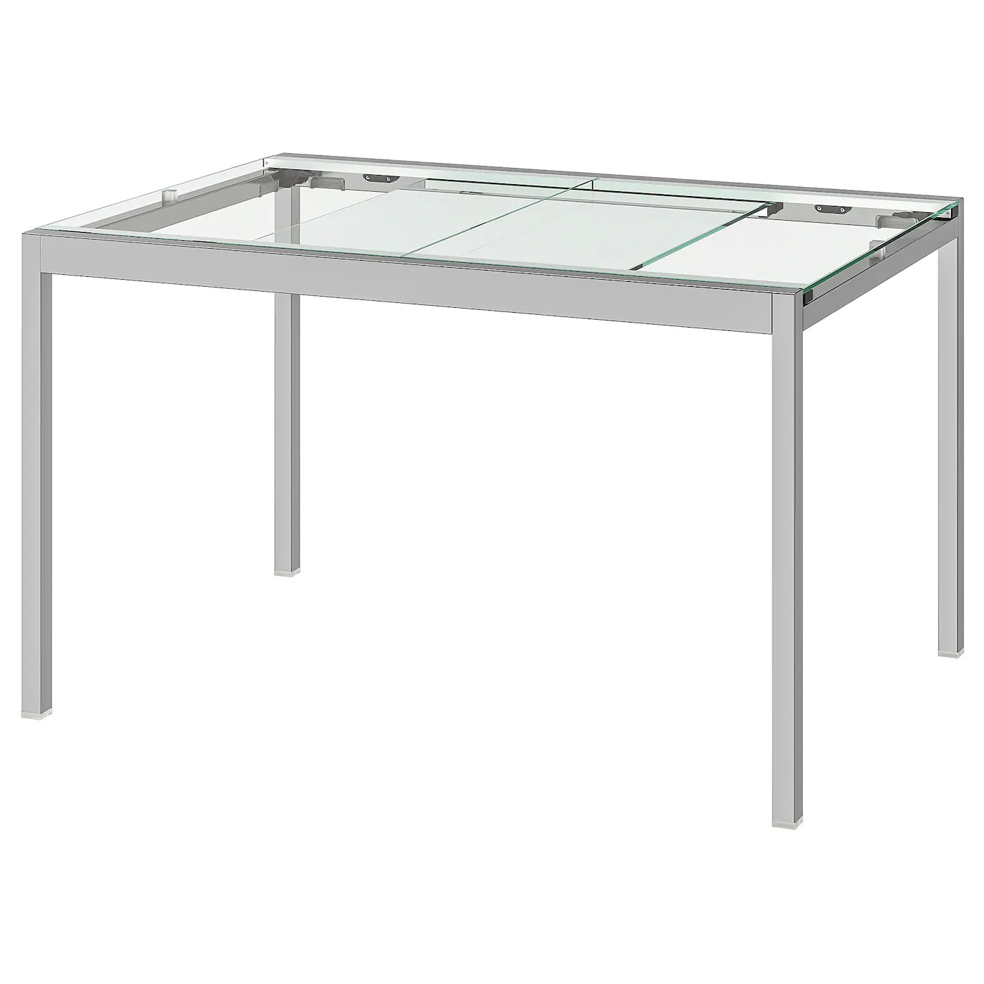 Glivarp Transparent Chrome Plated Extendable Table Length 125 Cm Ikea
