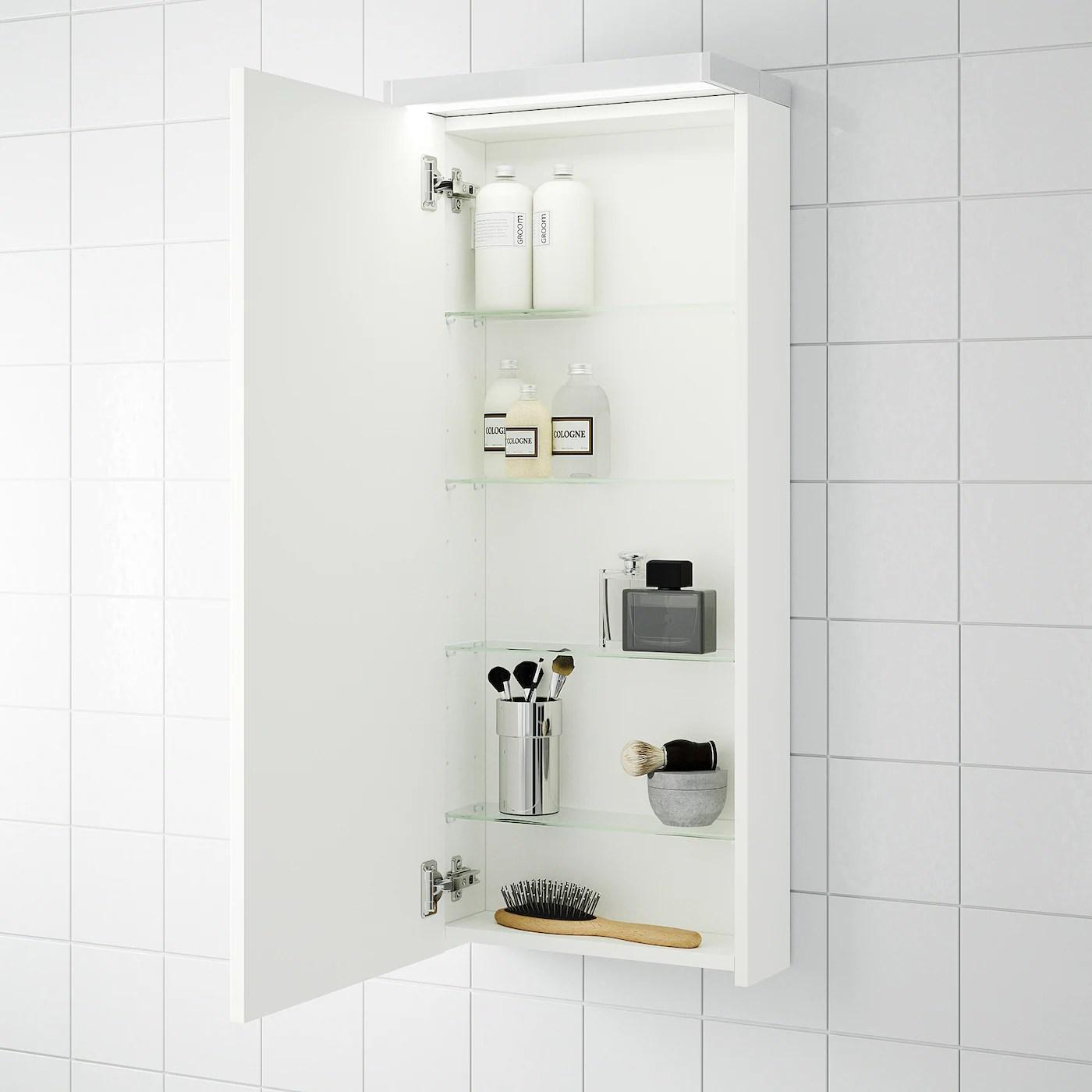 Godmorgon White Wall Cabinet With 1 Door 40x14x96 Cm Ikea