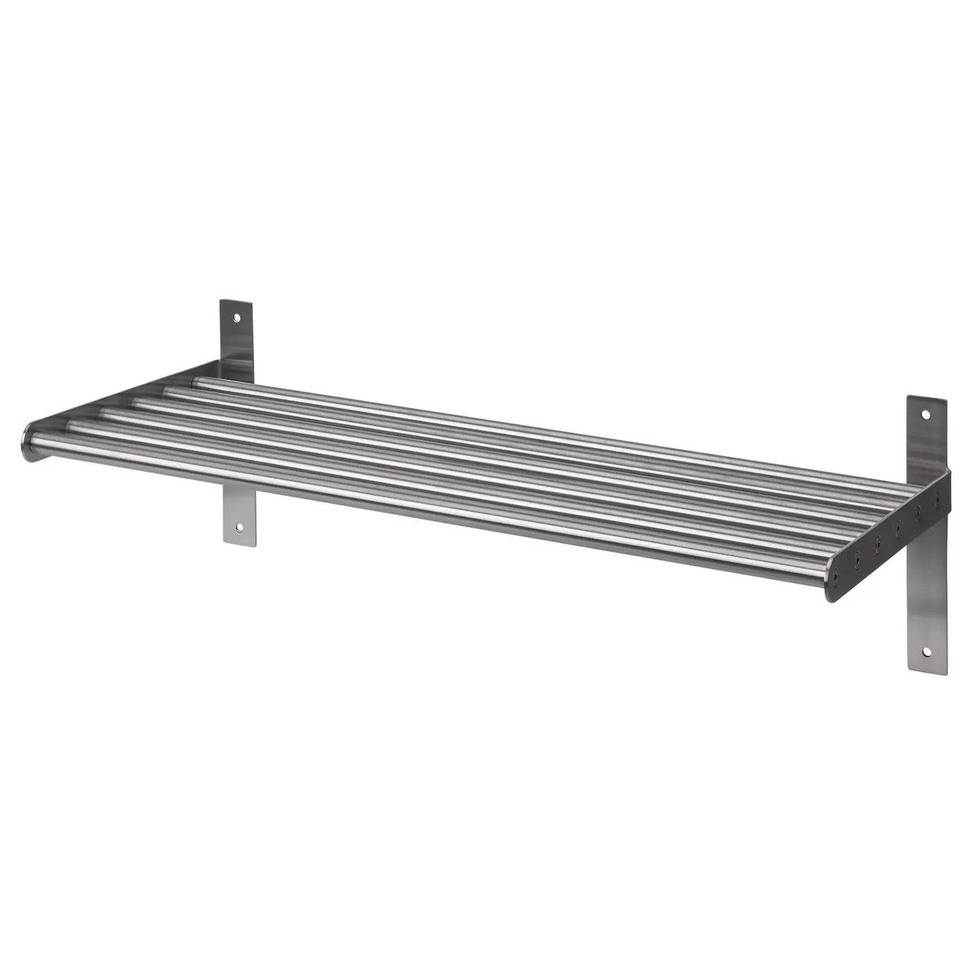 grundtal wall shelf stainless steel 60 cm