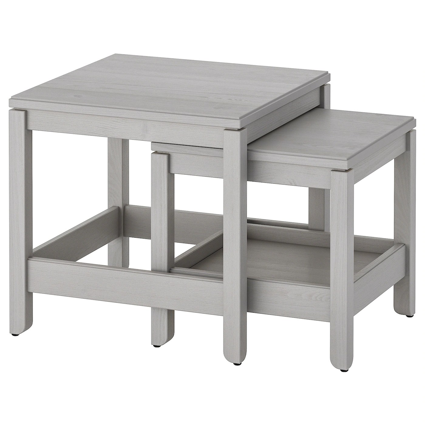 Havsta Grey Nest Of Tables Set Of 2 Ikea