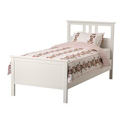 Ikea Hemnes Bed Frame Made Of Solid Wood Which Is A Hardwearing And Warm Natural