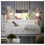 Hemnes White Malfors Medium Firm Day Bed W 3 Drawers 2 Mattresses 80x200 Cm Ikea