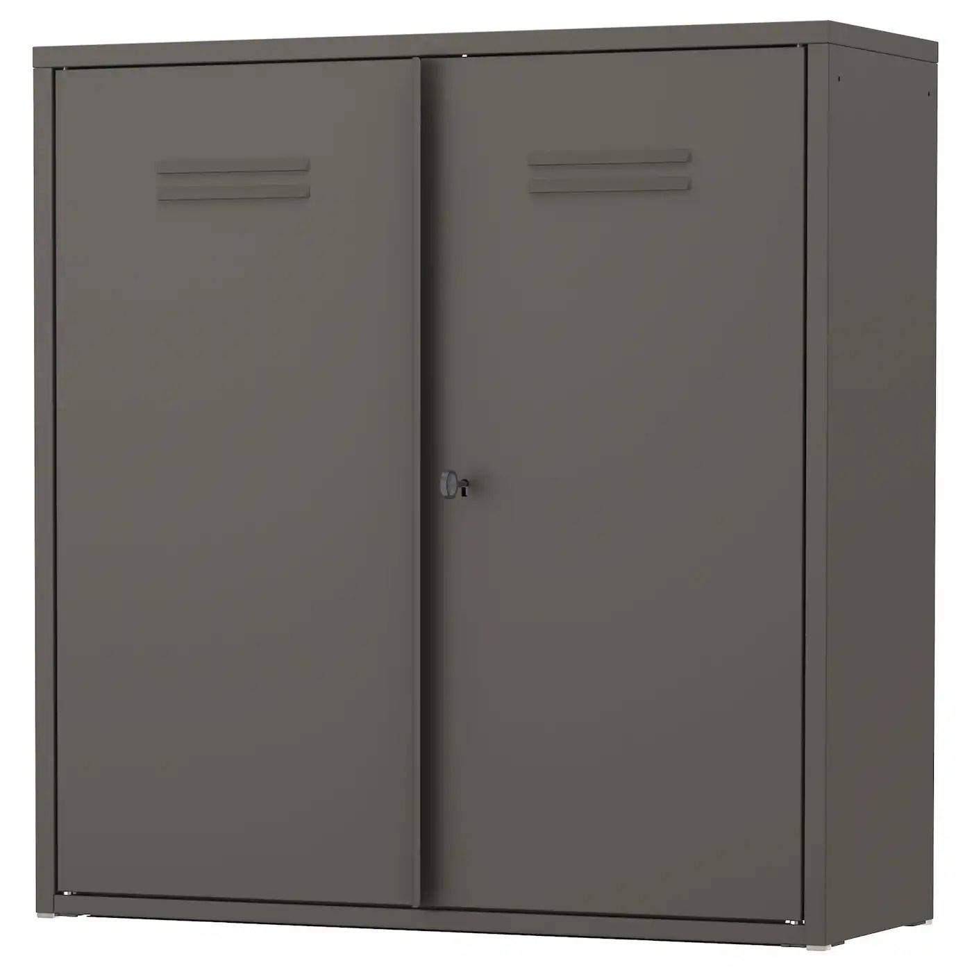IVAR Cabinet With Doors Grey 80 X 83 Cm IKEA