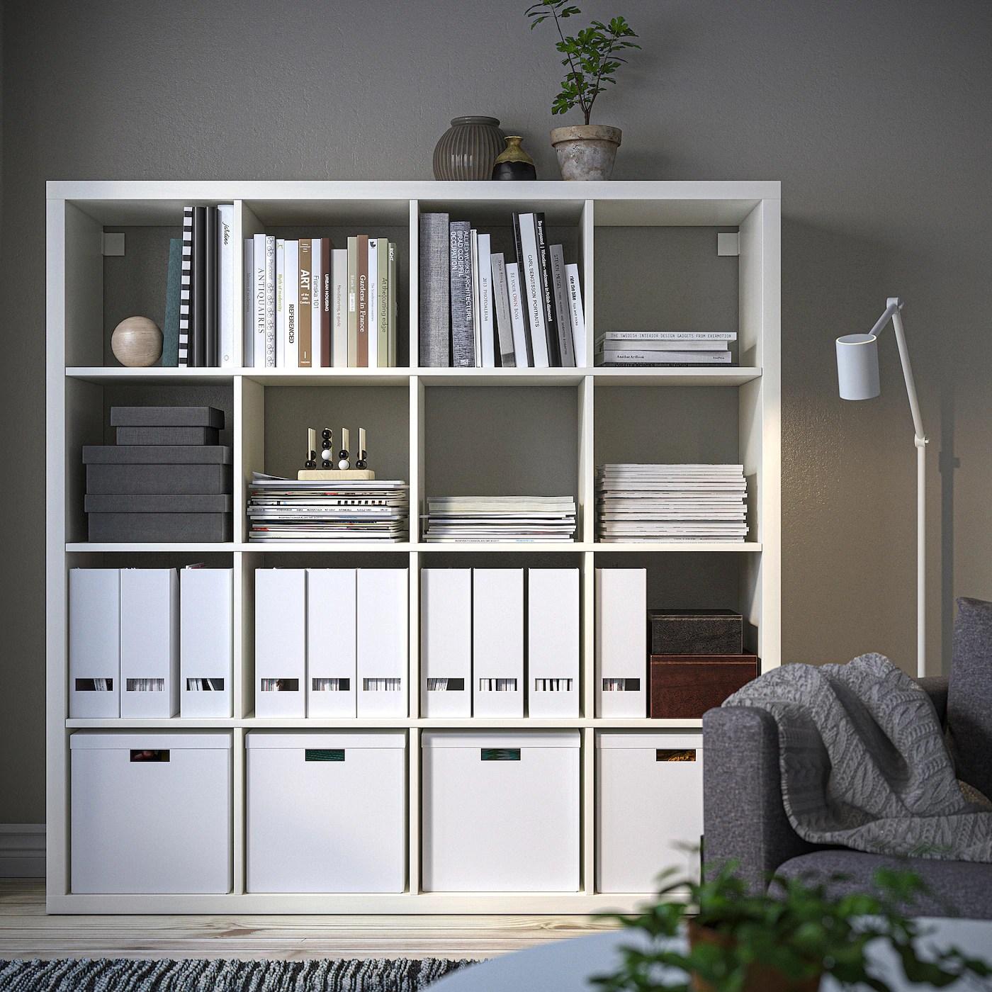 Kallax White Shelving Unit 147x147 Cm Ikea