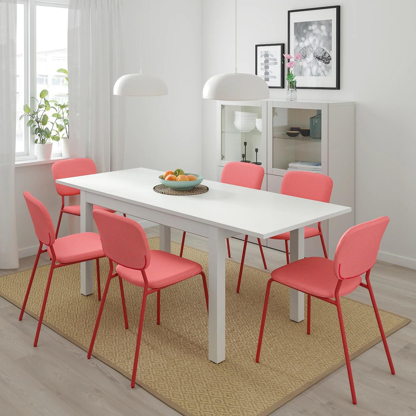 laneberg extendable table white 130 190x80 cm