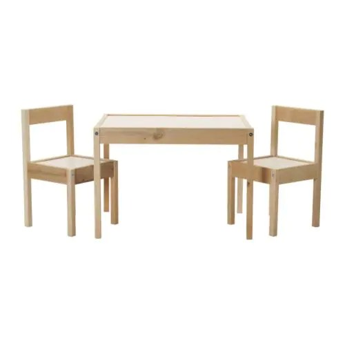 LÄTT Children's table with 2 chairs IKEA Its small dimensions make it especially suitable for small rooms or spaces.