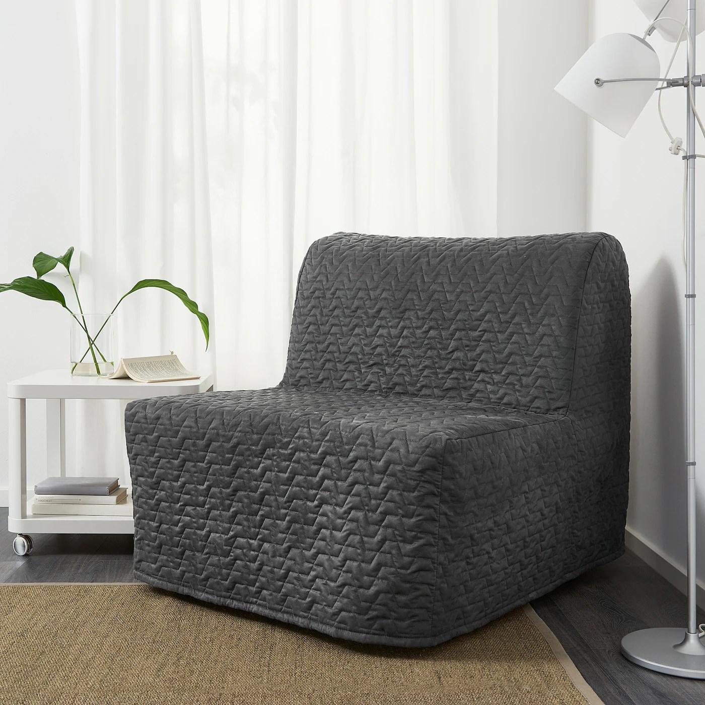 Lycksele Murbo Vallarum Grey Chair Bed Ikea