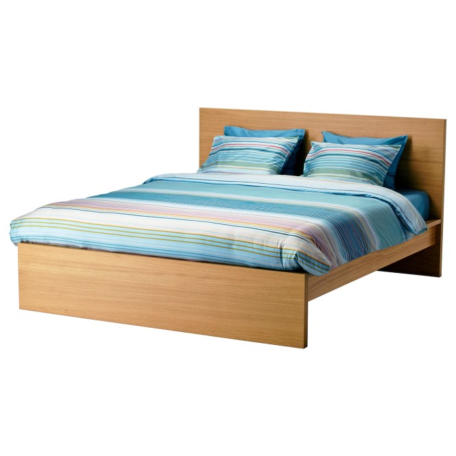 Ikea Malm Bed Frame High Real Wood Veneer Will Make This Age Gracefully