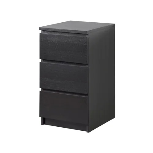MALM Chest Of 3 Drawers Black Brown 40 X 78 Cm IKEA