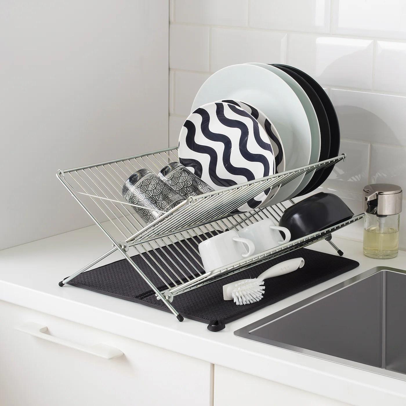 nyskoljd dish drying mat dark grey 44x36 cm