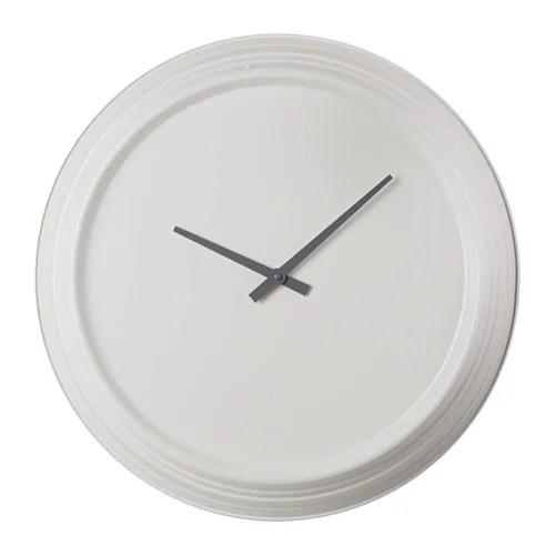 PLURRA Wall Clock Metal White 59 Cm IKEA