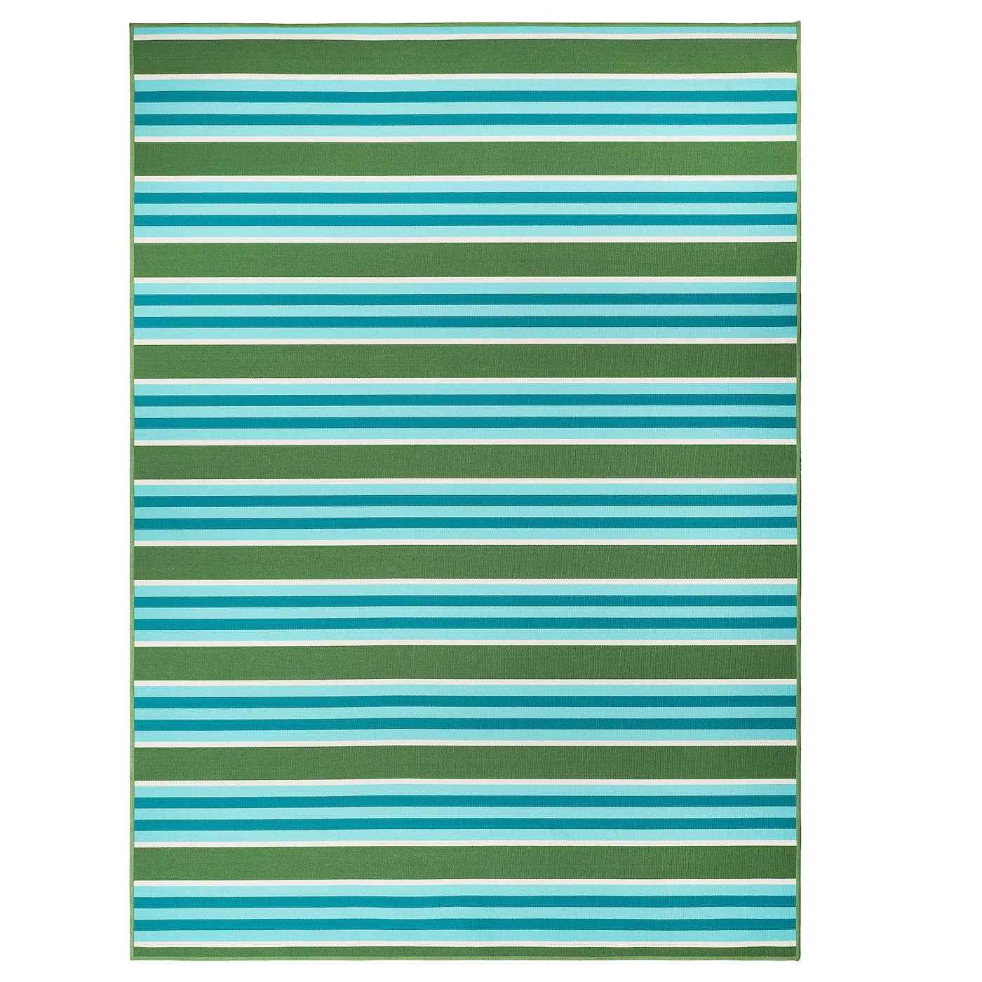 Sommar 2020 Rug Flatwoven In Outdoor Striped Green White 170x240 Cm Ikea