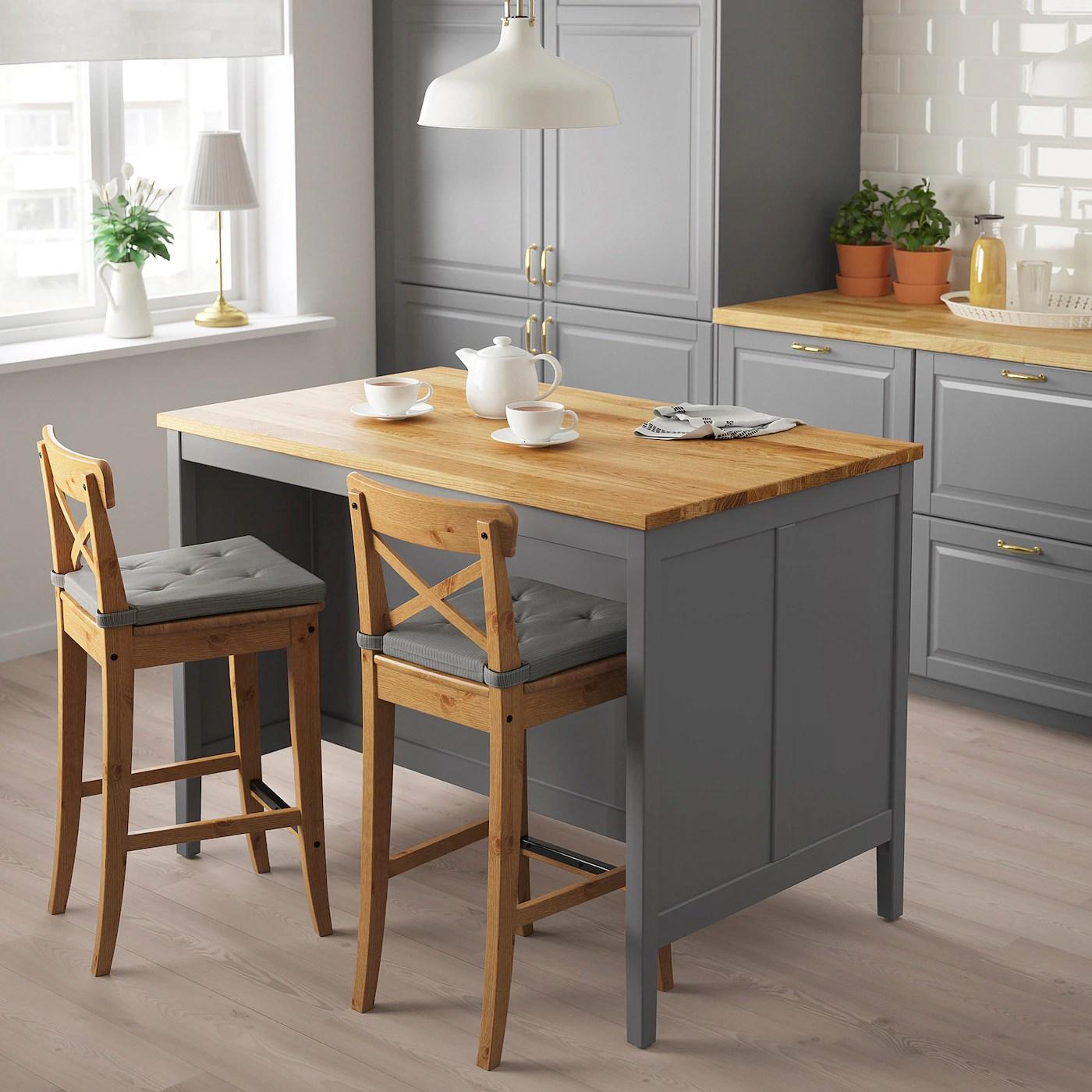 Tornviken Grey Oak Kitchen Island Length 126 Cm Ikea