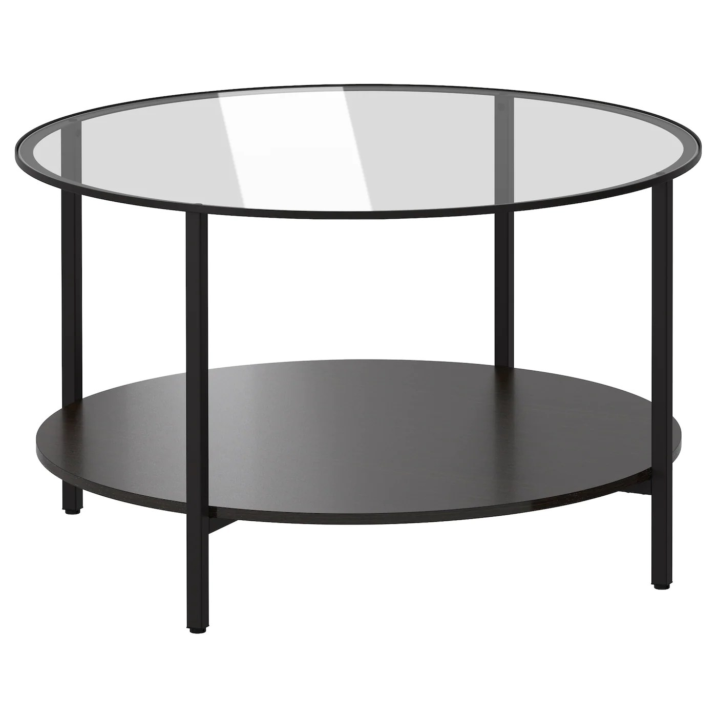 vittsjo coffee table black brown glass 75 cm
