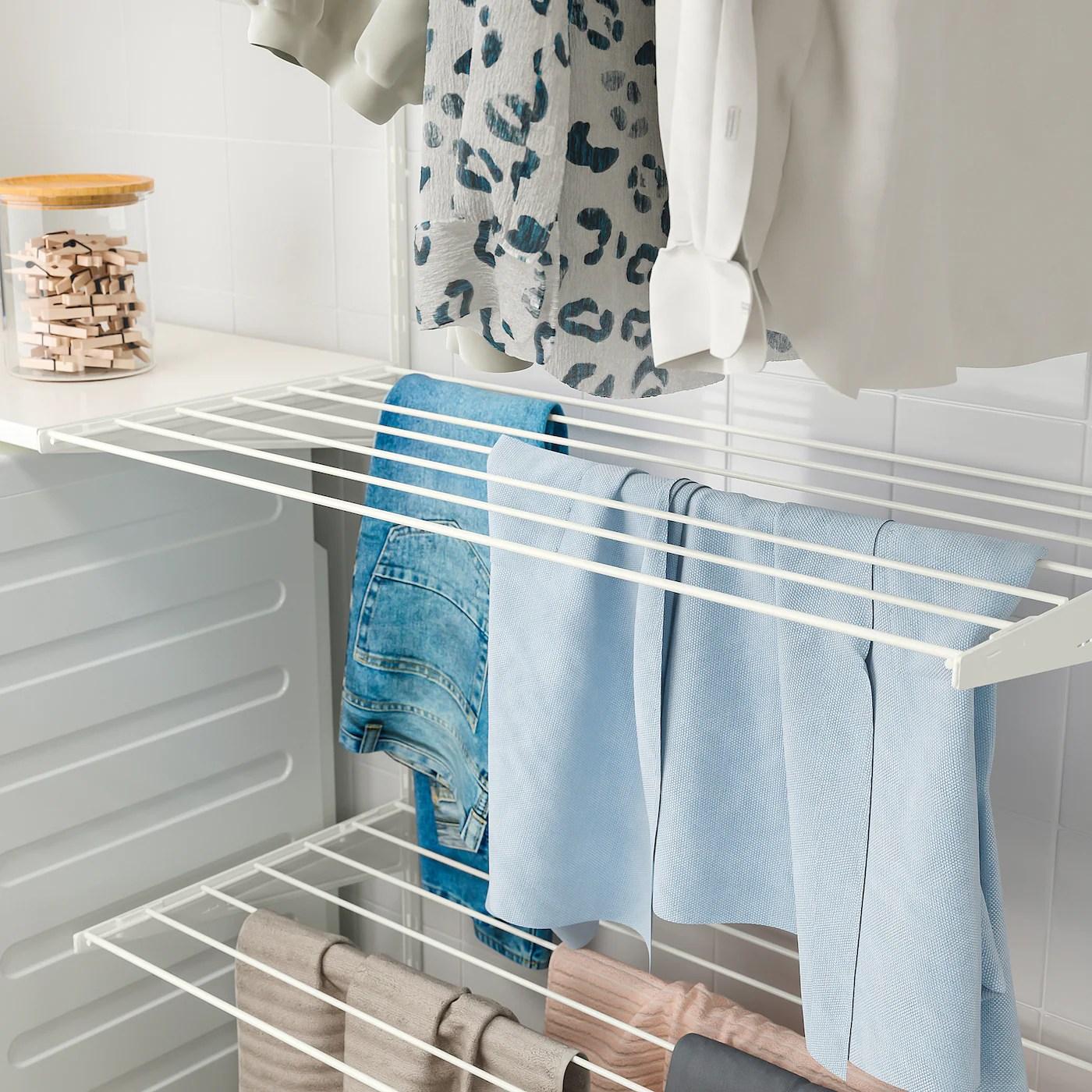 boaxel drying rack white 80x40 cm