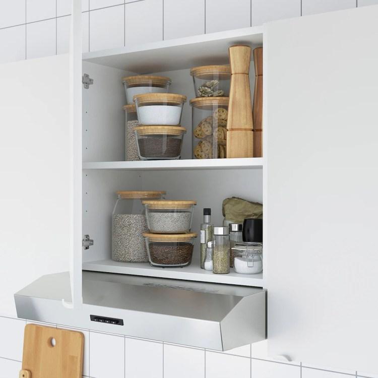 Enhet Corner Kitchen White Concrete Effect White Ikea Ireland