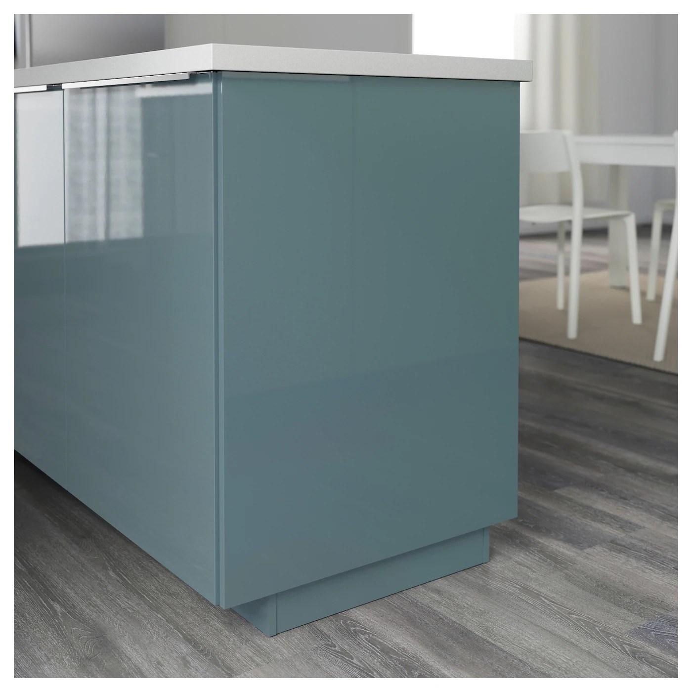 KALLARP Cover Panel High Gloss Grey Turquoise 39 X 86 Cm
