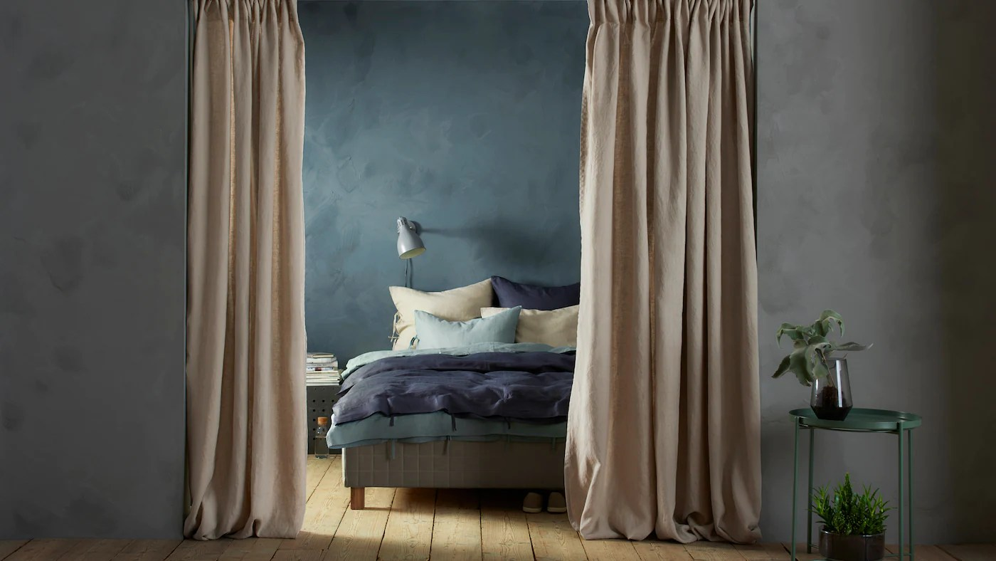 use curtains to divide your space