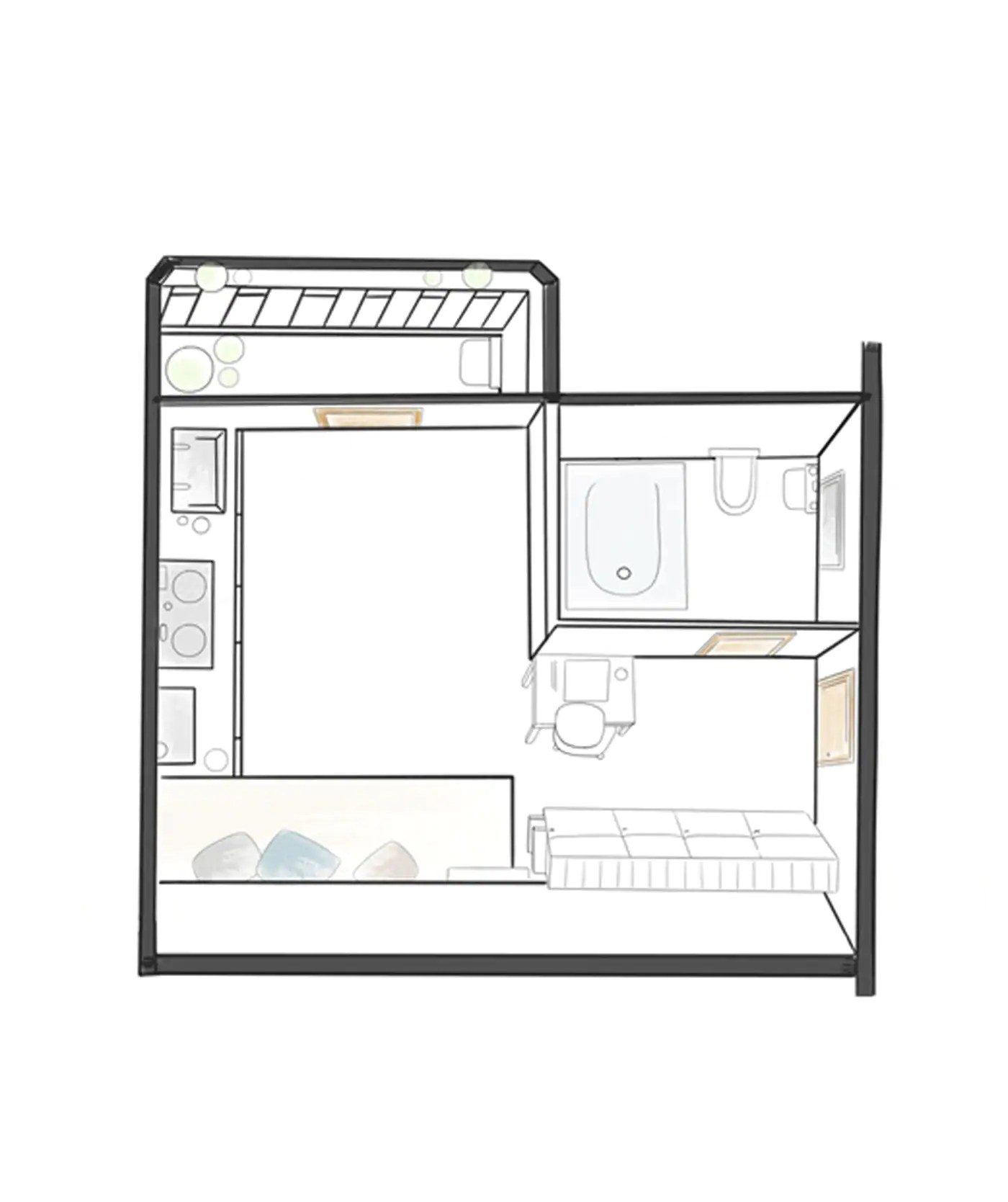 City Living In A Tiny Apartment Just 12m In Size Ikea