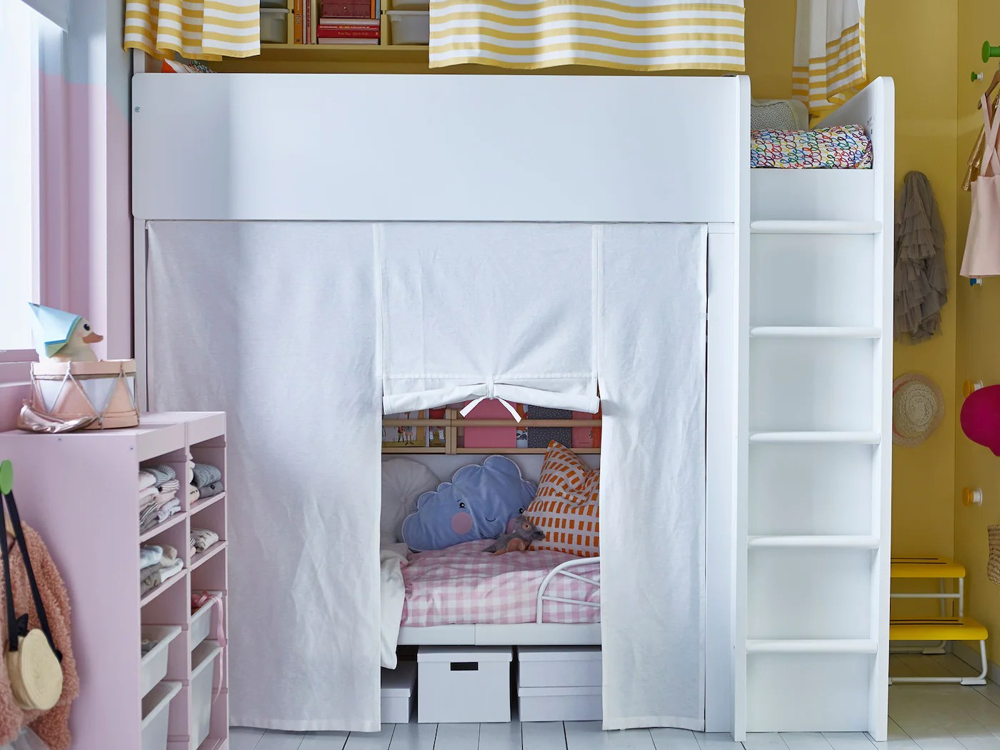 privacy curtain for a shared kids room