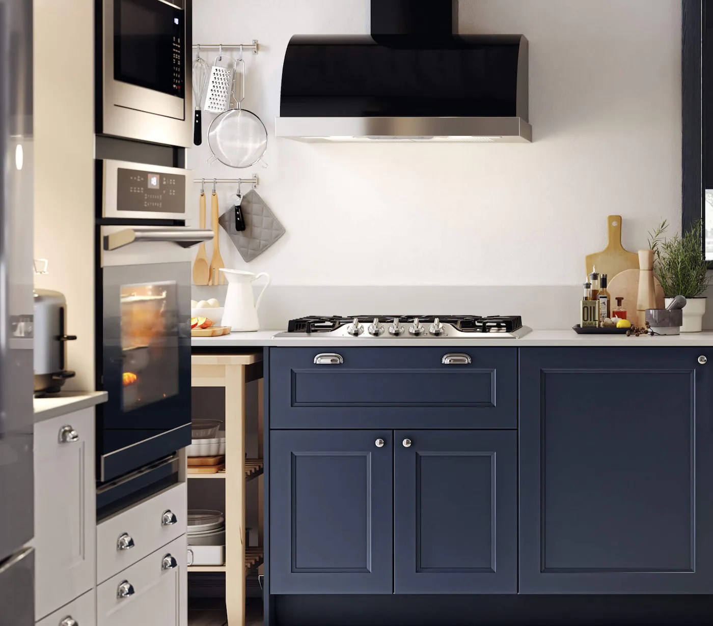 blue kitchen cabinets axstad modern